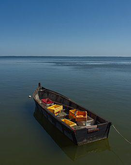 Boat, Fishing Boat, Curonian Spit, Sea, Fishing