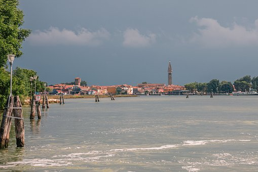 Island, City, Architecture, Sea, Blue, Tourism