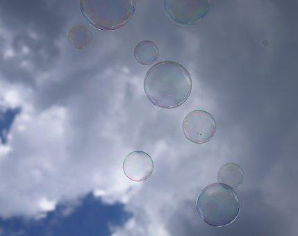 Soap Bubble, Sky, Clouds, Cloudiness, Blow, Ball