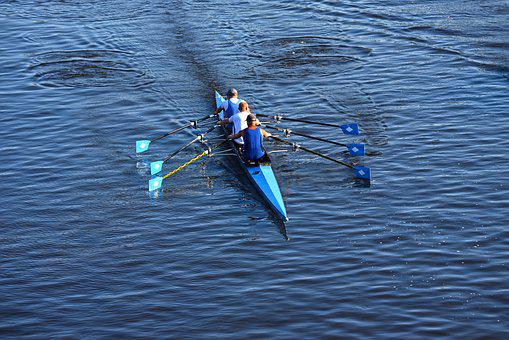 Canoe, Rowers, Rowing, Sport, Training, Recreational