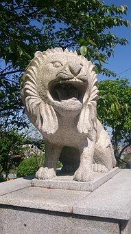 Lion, Statue, Stone