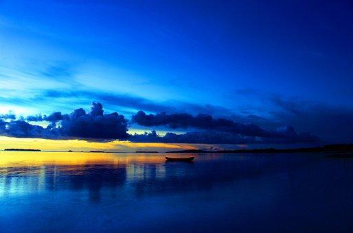 Kei Islands, Beach, Sunset, The Sky, Sun, Nature, Water