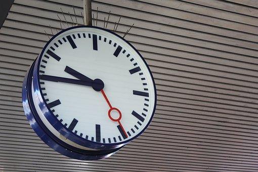Train, Clock, Time, Platform, Railway Station