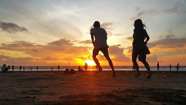 Beaches, Couple, Sunset, Romantic, Together, Love
