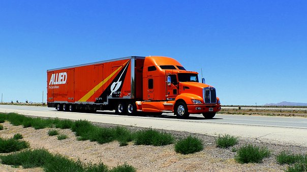 Truck, American, Vehicle, Transport, Traffic, Trailer