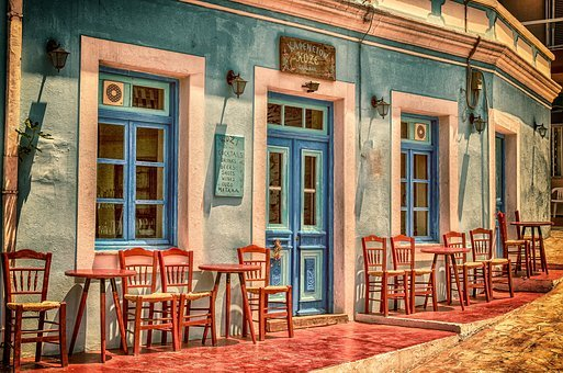 Cafe, Architecture, Travel, Building, Greece