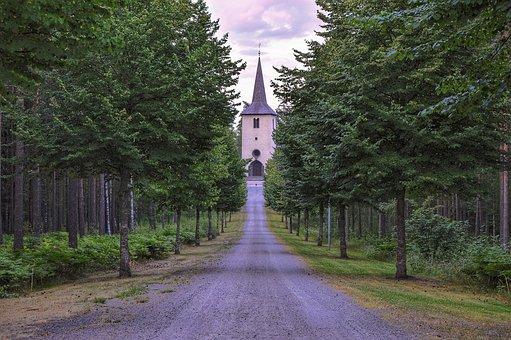 Ohs Church, Church, Ohs, Värnamo, Sweden, Evening, Hdr