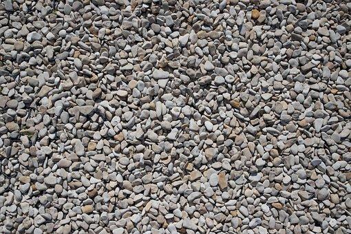 Gravel, White, Background, Pattern, Texture, Stones
