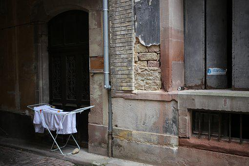 Decay, Ruin, Wall, Brick, Dilapidated, Ailing, Laundry