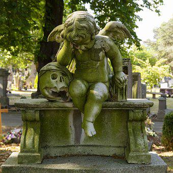 Angel, Cemetery, Pierre, Mourning, Angelic, Wings