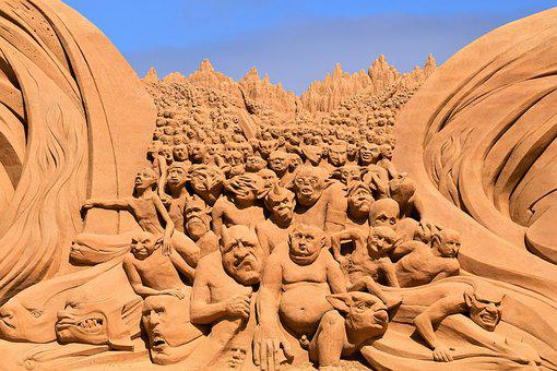Sand Sculptures, Sand, Artwork, Sand Picture, Beach