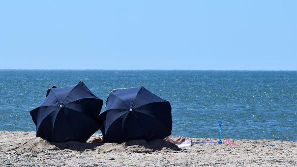 Parasol, Sun, Sunbathing, Beach, Sand, Holiday, Sea