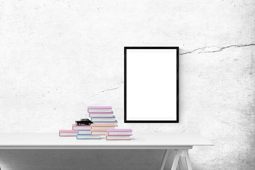 Poster Mockup, Poster, Book, Wall, Frame, Template