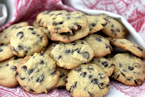 Baking, Cookies, Fresh, Choc-chip, Delicious