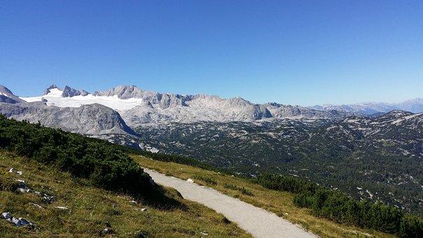 Dachstein, Away, Green, Landscape, Austria, Genuine