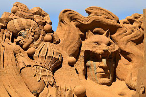 Sand Sculpture, Sand, Art, Statue, Artwork, Festival