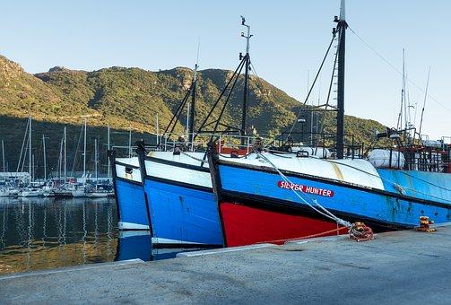 Fishing Boats, Berth, Jetty, Quay, Water, Fishing