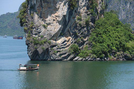 Nature, Mountain, Lake, Viet Nam, Vessel, Green