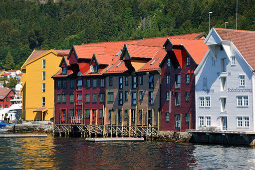 Architecture, Landscape, Homes, Wooden Houses, Colorful
