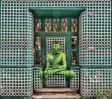 Door, Goal, Input, Portal, Gate, Building, Budda