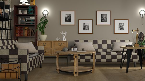 Sofa, Chess, Interior, Furniture, Room, Table, Inside