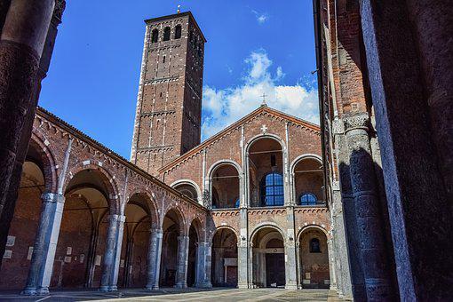 Basilica Of St, Ambrogio, Sant Ambrogio, Milan, Italy