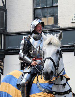 Parade, Festival, Knight, Costume, Medieval, Horse