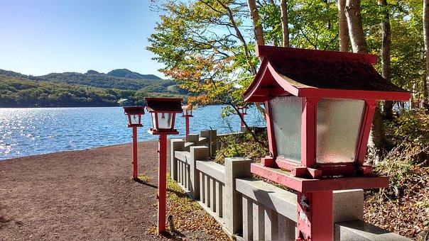 Japan, Mount, Akagi, Lake, Lights