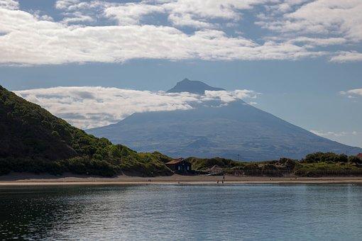Nature, Landscape, Dawn, Ocean, Volcano, Pico Mountain