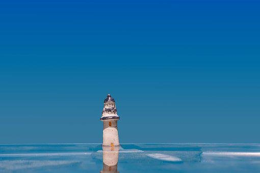 Lighthouse, Water, Boat, Ocean, Sea, Lake, Spieglung