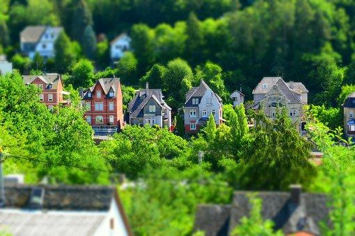 Miniature, Home, Forest, Landscape, Tilt Shift, City