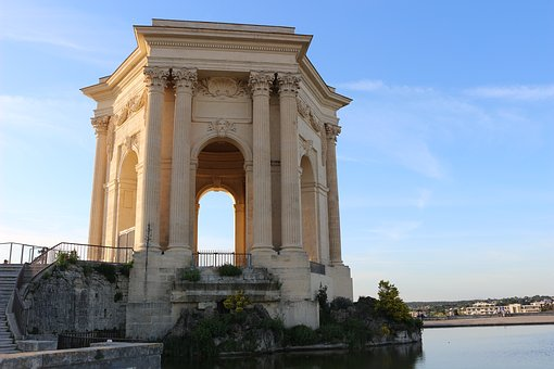 Montpellier, Water Tower, Romans, Evening, Monuments