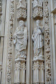 Sculpture, Stone, Motif, Figures, Mystical, Masonry