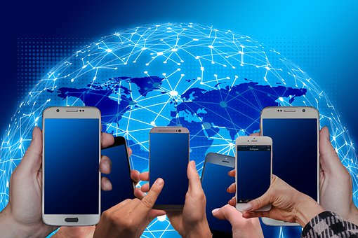 System, Network, News, Smartphone, Hands, Connection