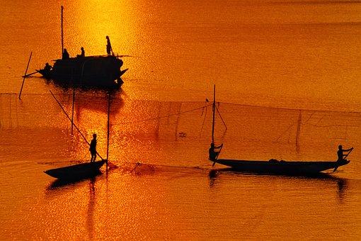 Bangladesh, River, Boat