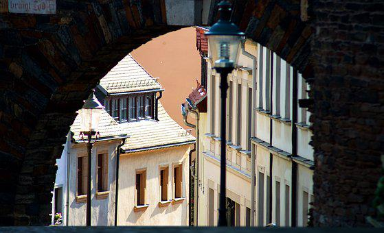 Alley, Road, Donatstor, Freiberg, City, Architecture