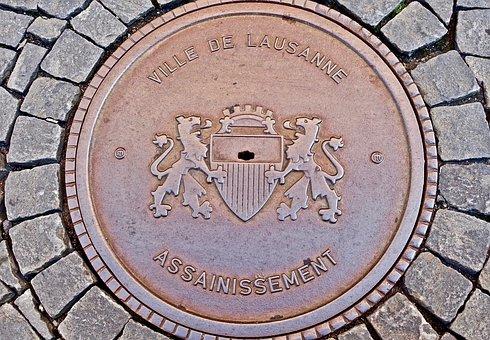 Manhole, Circular, Cover, Symbol, Hatch, Round, Sewer