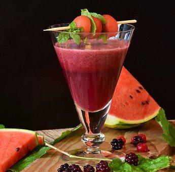 Smoothie, Melon Cocktail, Watermelon, Melon