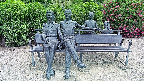Sculpture, Statue, Family, Figures, Figure, Stone