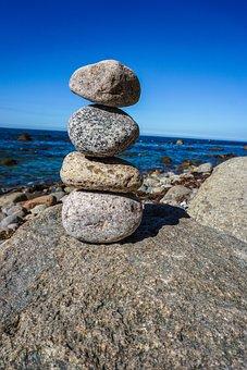 Stones, Sea, Beach, Coast, Water, Rock, Bank, Stone