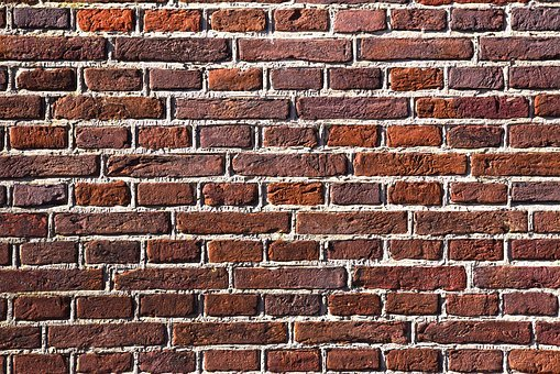 Red Brick Wall, Stone, Bricks, Masonry, Cement, Seam