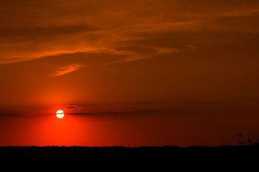 Sun, Sunset, Sky, Landscape, Dusk, Clouds, Mood