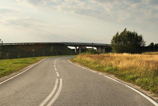 Way, Bend, Road, Landscape, Asphalt, Travel, Traffic