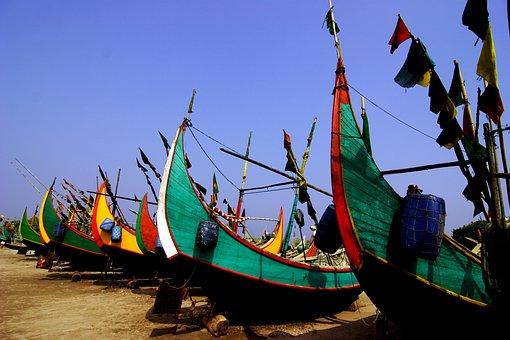 Bangladesh, Fisherman, Boat