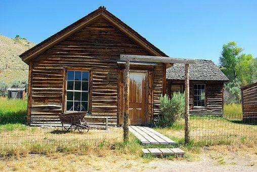 Bannack Montana Turner House, Montana, Usa, Bannack