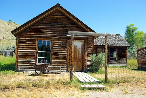Bannack Montana Turner House, Montana, Usa, Bannack