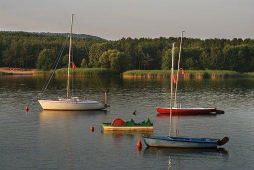 Boat, Water, Landscape, Lake, Nature, Boats, Haven, Sky