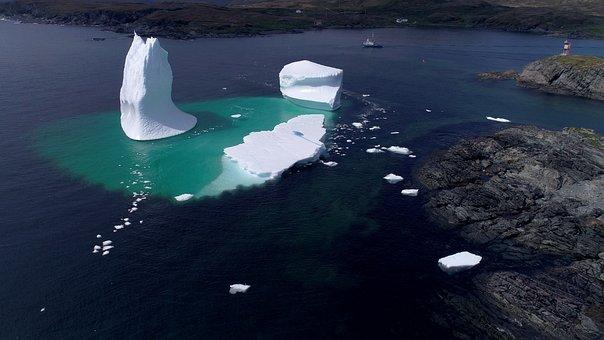 Icebergs, Newfoundland, Canada, Ocean, Majestic