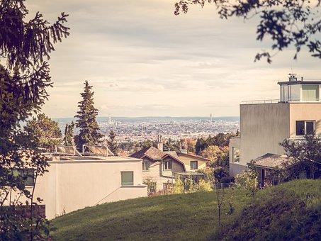 City, Vienna, Suburban, Building, Architecture