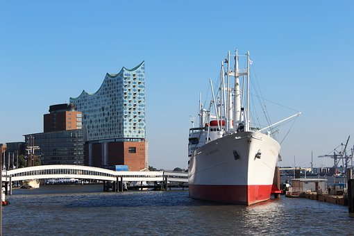 Elbe Philharmonic Hall, Hamburg, Germany, North, Water